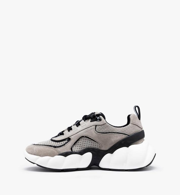 MCM Women's Himmel Low-Top Sneakers Grey MESASNX03FJ040 Alternate View 4