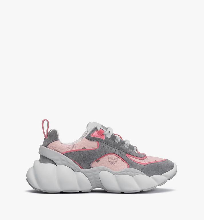 MCM Women's Himmel Low-Top Sneakers in Visetos Pink MESASNX05QH037 Alternate View 2