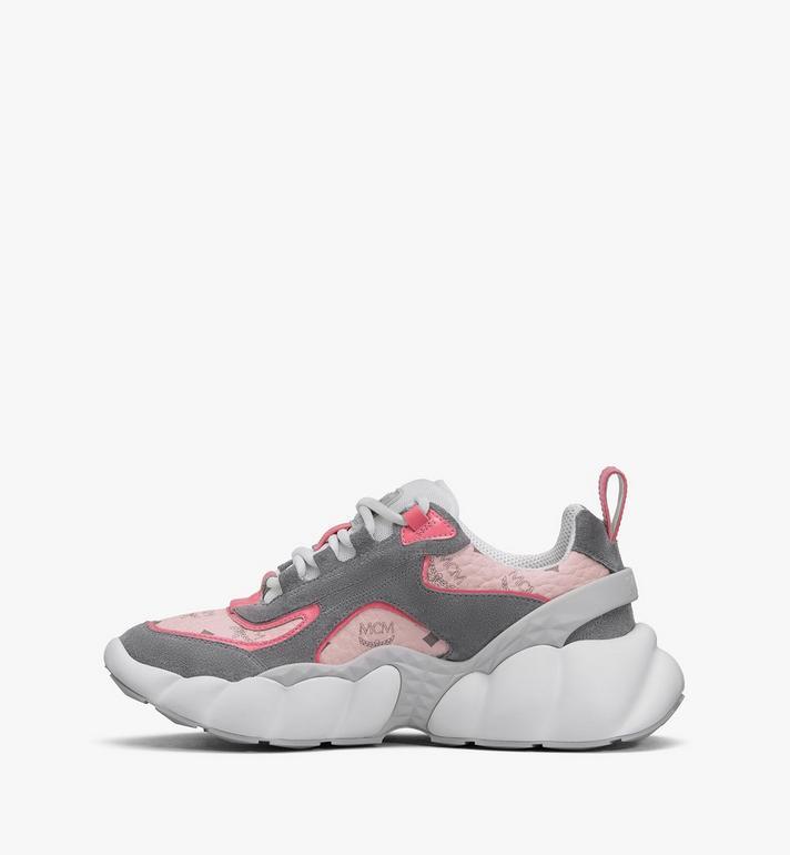 MCM Women's Himmel Low-Top Sneakers in Visetos Pink MESASNX05QH038 Alternate View 4