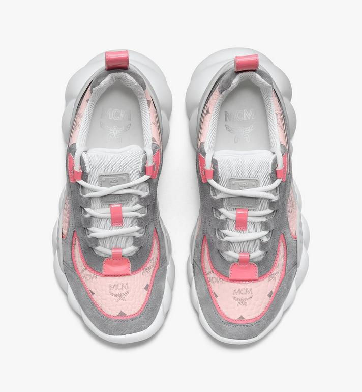 MCM Women's Himmel Low-Top Sneakers in Visetos Pink MESASNX05QH038 Alternate View 5