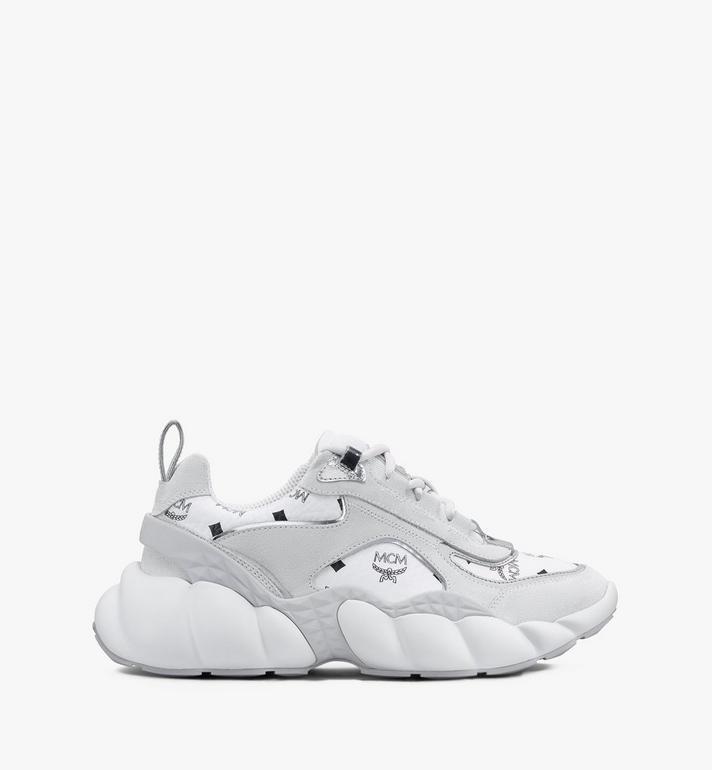 MCM Women's Himmel Low-Top Sneakers in Visetos White MESASNX05WT037 Alternate View 2