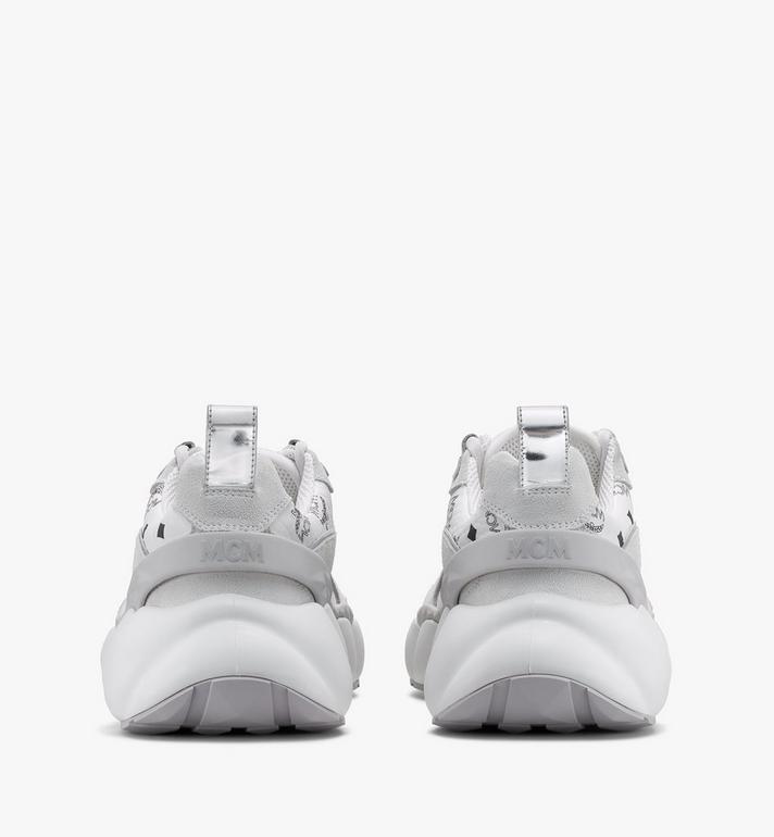 MCM Women's Himmel Low-Top Sneakers in Visetos White MESASNX05WT037 Alternate View 3