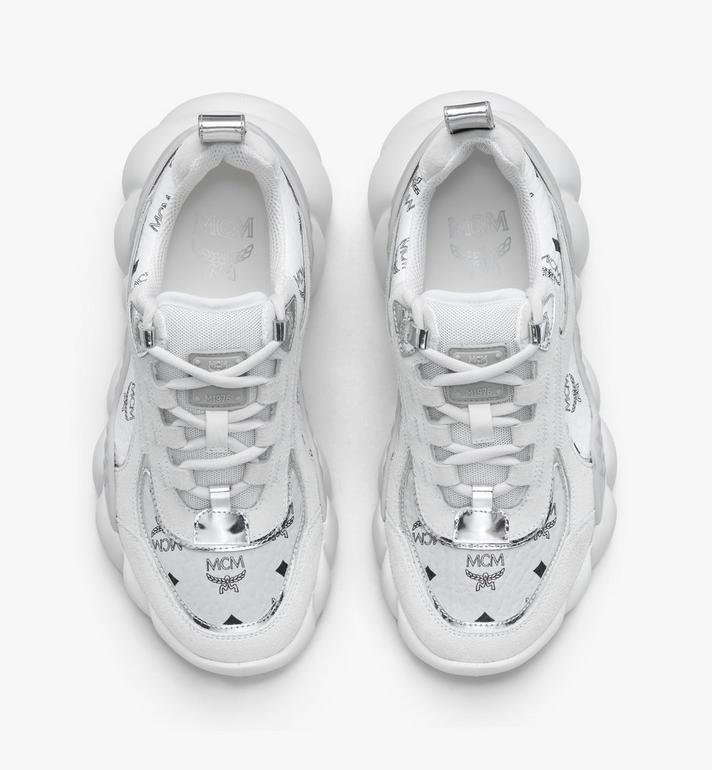 MCM Women's Himmel Low-Top Sneakers in Visetos White MESASNX05WT037 Alternate View 5