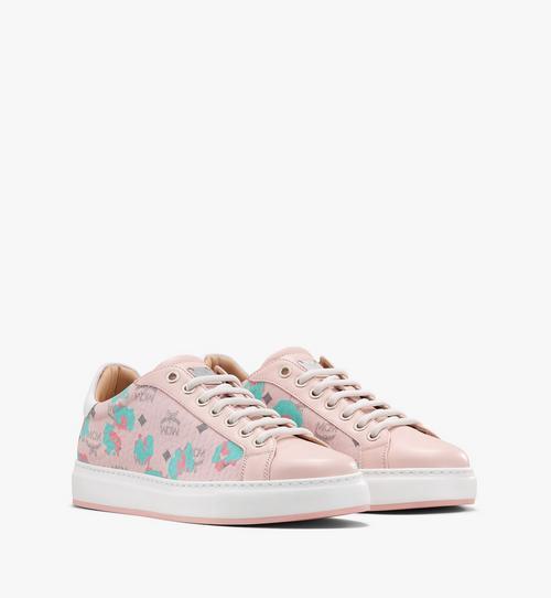 Women's Low-Top Sneakers in Floral Leopard