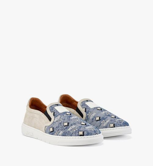 Slip-on-Sneaker aus Vintage-Jacquard mit Monogramm für Damen