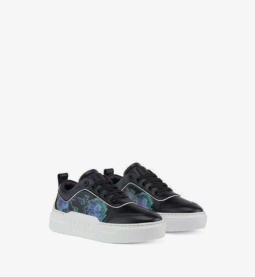 รองเท้าผ้าใบ Skyward Platform วัสดุหนังลาย Tech Flower สำหรับผู้หญิง