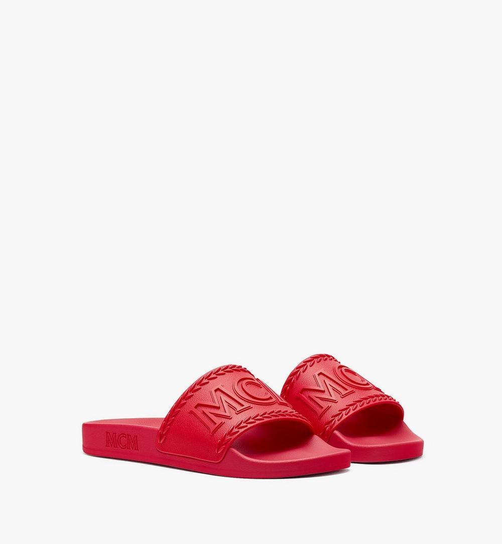 รองเท้าแตะยางลายโลโก้ขนาดใหญ่สำหรับผู้หญิง 1