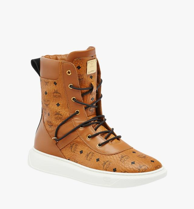 Men's Lace Up Boots in Visetos