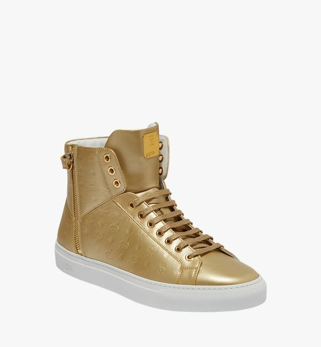 Men's High Top Sneakers in Monogram Leather
