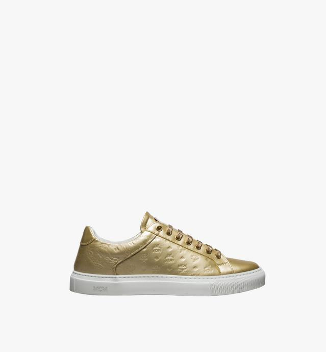 Men's Low Top Classic Sneakers in Monogram Leather