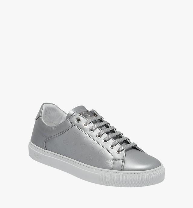 Men's Low Top Classic Sneakers in Monogram Leather