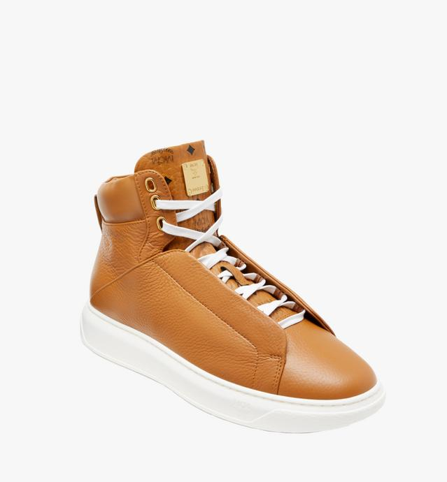 Men's High Top Diamond Sole Sneakers in Leather