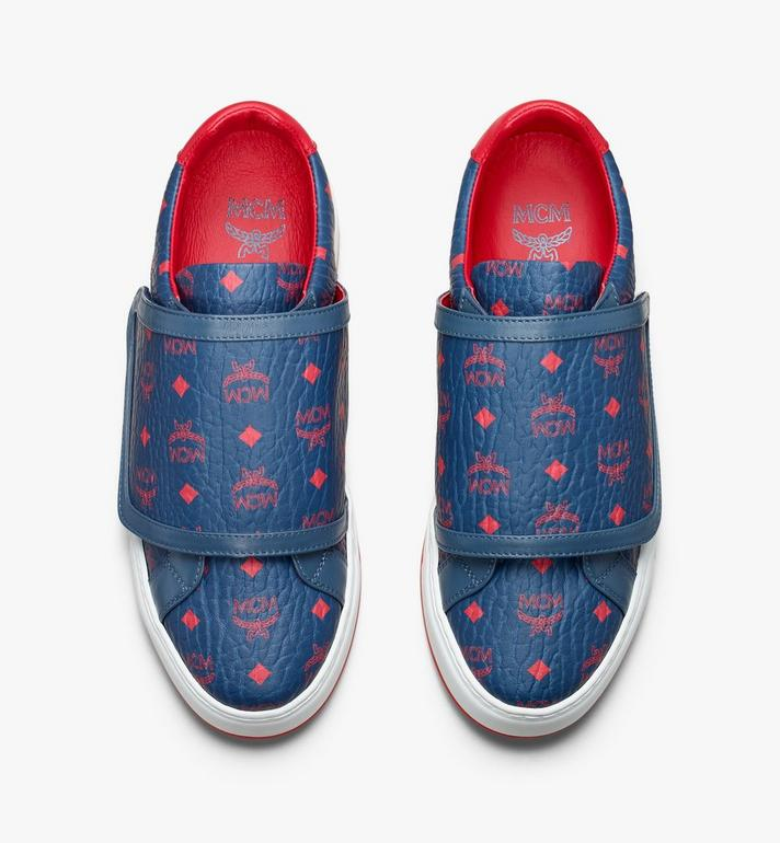 MCM Men's Milano Low-Top Sneakers Blue MEX9ADA01VS041 Alternate View 5