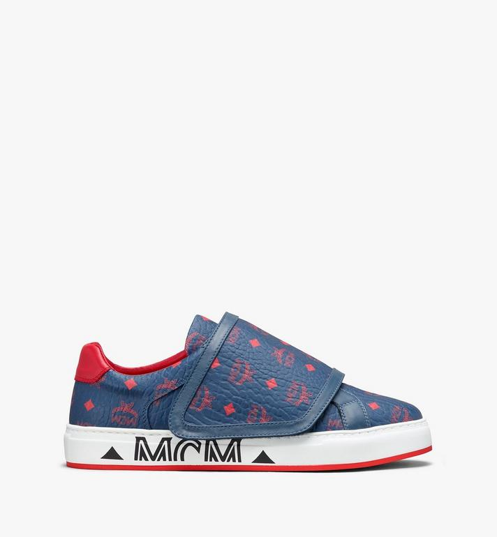 MCM Men's Milano Low-Top Sneakers Blue MEX9ADA01VS042 Alternate View 2