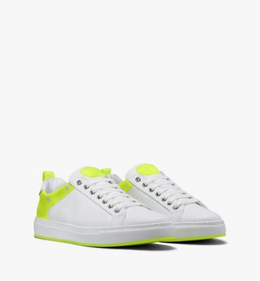 Men's Flo Low-Top Sneakers in Neon Visetos