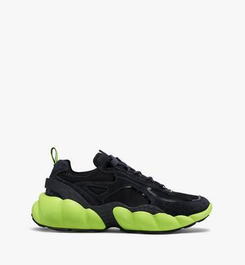 MCM Men's Low-Top Himmel Sneaker in Suede Black MEX9AMM66BK041 Alternate View 2