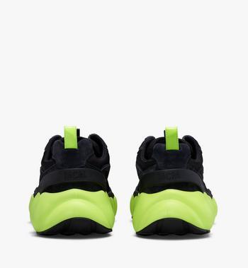 MCM Men's Low-Top Himmel Sneaker in Suede Black MEX9AMM66BK041 Alternate View 3