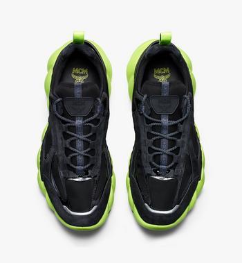 MCM Men's Low-Top Himmel Sneaker in Suede Black MEX9AMM66BK041 Alternate View 5