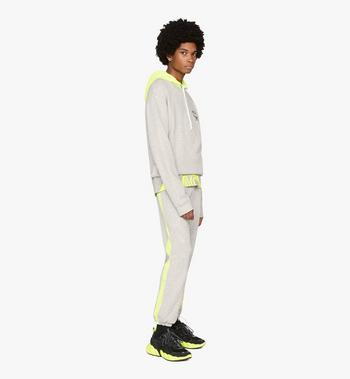 MCM Men's Low-Top Himmel Sneaker in Suede Black MEX9AMM66BK041 Alternate View 7