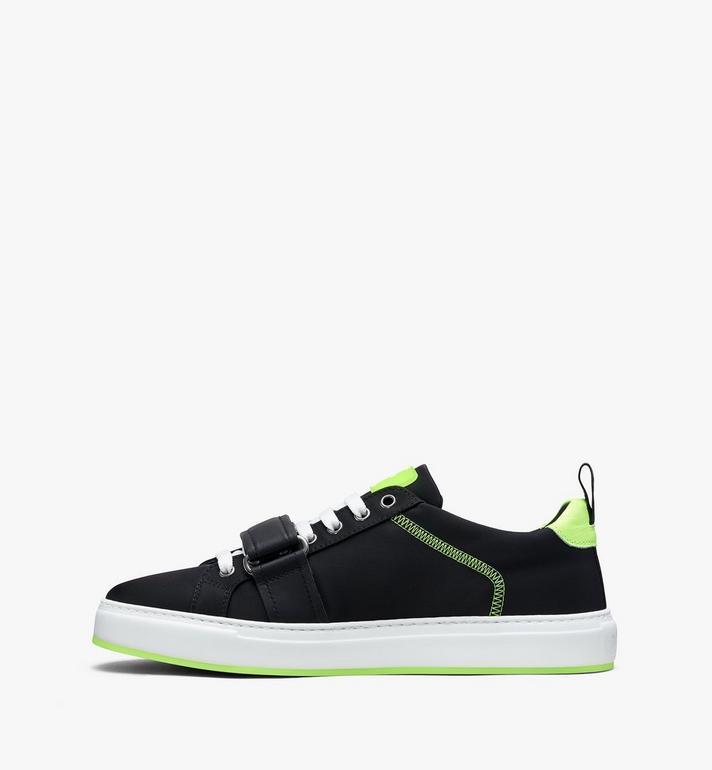 MCM Men's Low-Top Velcro Sneaker in Nylon Black MEX9AMM68BK043 Alternate View 4