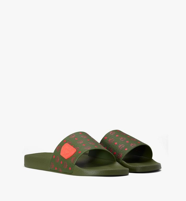 MCM Men's Monogram Rubber Slides Alternate View