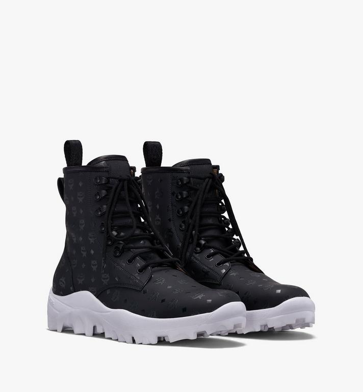 MCM Men's Resnick Combat Boot in Visetos Alternate View