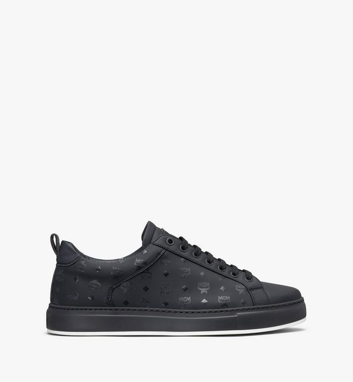 MCM Men's Low-Top Sneakers in Visetos Black MEX9AMM90BK041 Alternate View 2