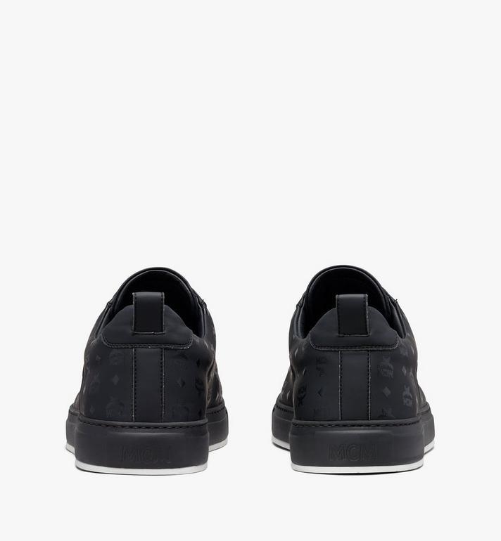 MCM Men's Low-Top Sneakers in Visetos Black MEX9AMM90BK041 Alternate View 3
