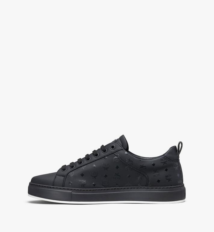 MCM Men's Low-Top Sneakers in Visetos Black MEX9AMM90BK041 Alternate View 4