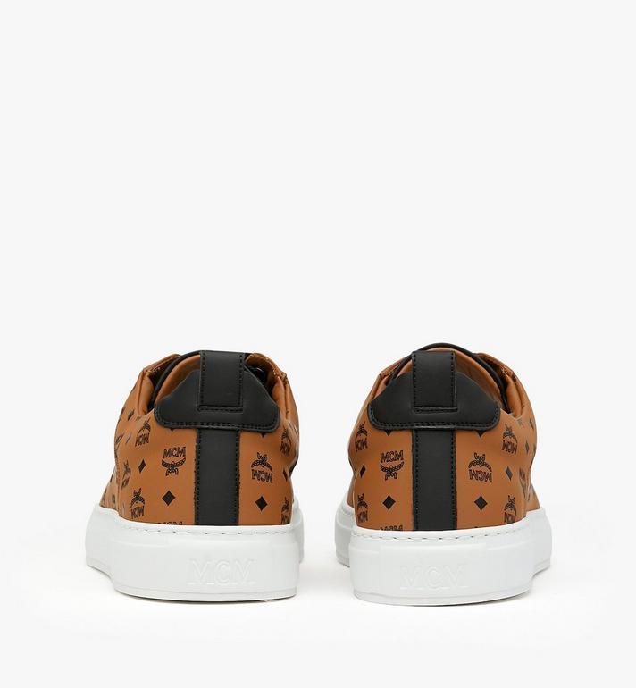 MCM Men's Low-Top Sneakers in Visetos Cognac MEX9AMM90CO042 Alternate View 4