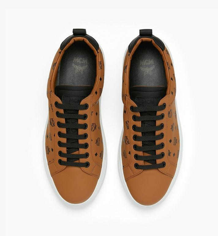 MCM Men's Low-Top Sneakers in Visetos Cognac MEX9AMM90CO042 Alternate View 5