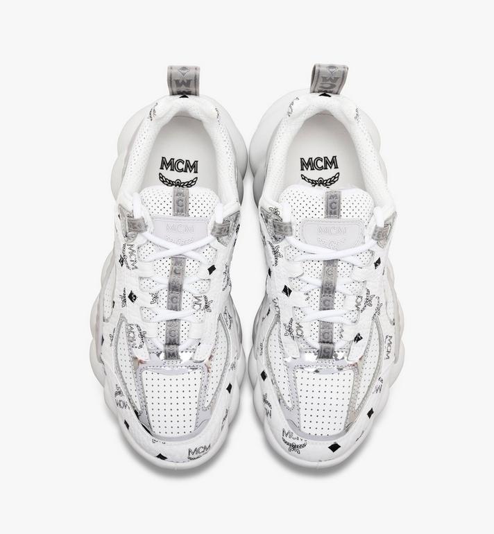MCM 男士经典Visetos Himmel低帮运动鞋 White MEX9ANX05WS042 Alternate View 4
