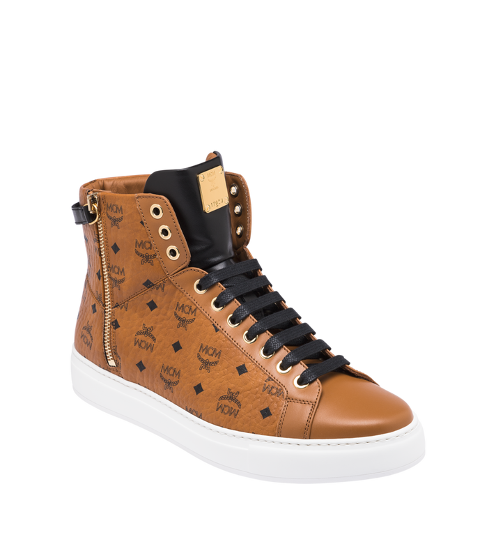 MCM Men's Classic High Top Sneakers in Visetos Alternate View