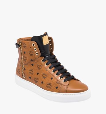 男款Visetos logo款高帮拉链运动鞋