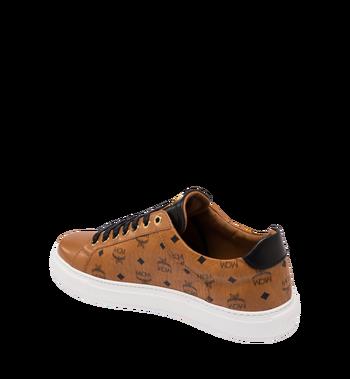 MCM Men's Classic Low Top Sneakers in Visetos Cognac MEX9SMM04CO041 Alternate View 3