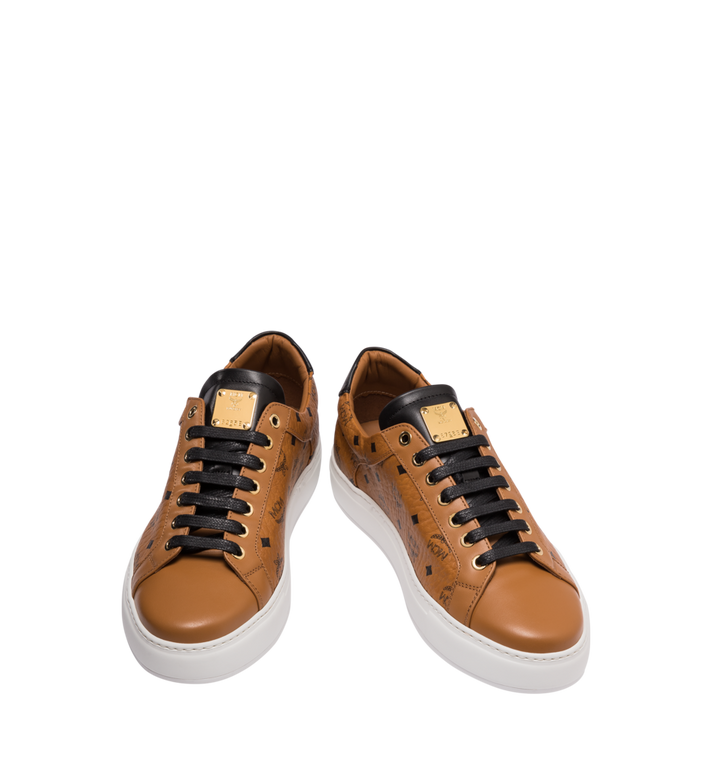 MCM Klassische, niedrige Visetos Herrensneakers Cognac MEX9SMM04CO041 Alternate View 4