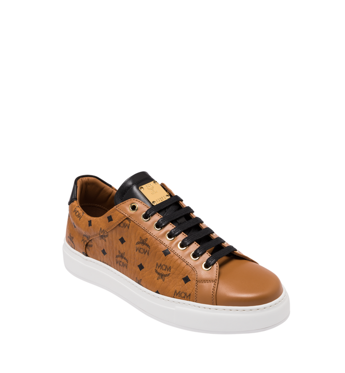 MCM Klassische, niedrige Visetos Herrensneakers Cognac MEX9SMM04CO044 Alternate View 1