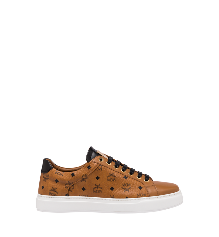 MCM Klassische, niedrige Visetos Herrensneakers Cognac MEX9SMM04CO044 Alternate View 2