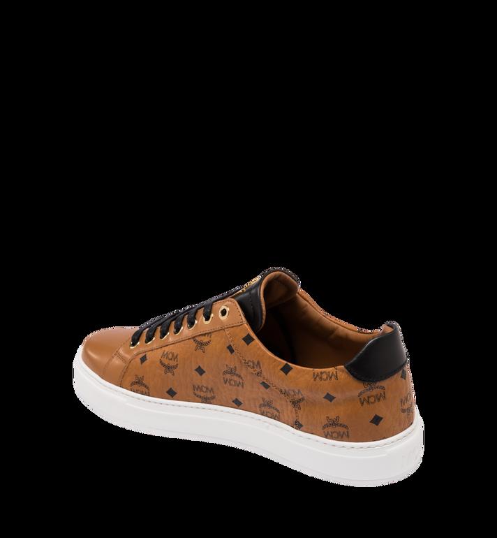 MCM Men's Classic Low Top Sneakers in Visetos Cognac MEX9SMM04CO044 Alternate View 3