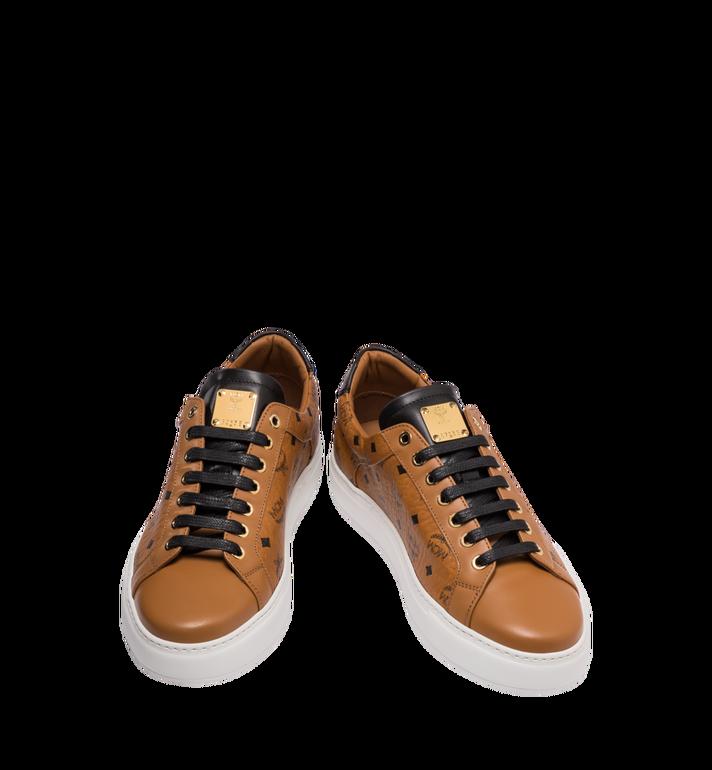 MCM Men's Classic Low Top Sneakers in Visetos Cognac MEX9SMM04CO044 Alternate View 4