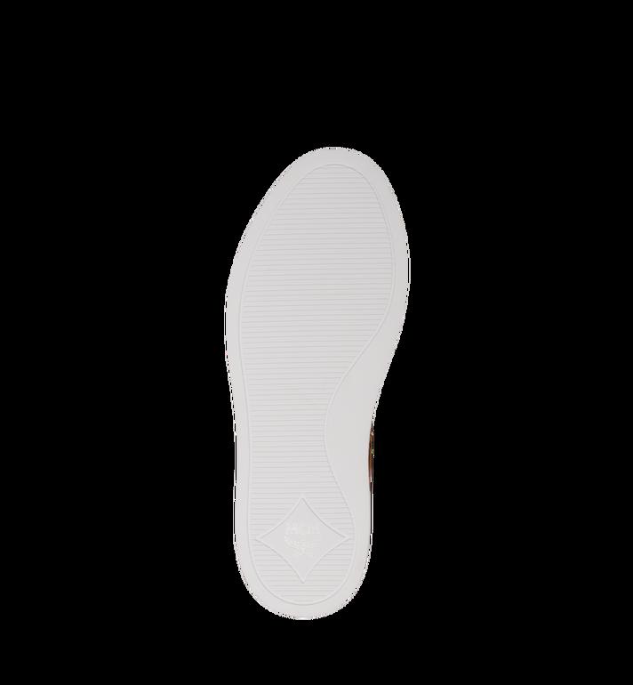 MCM Men's Classic Low Top Sneakers in Visetos Cognac MEX9SMM04CO044 Alternate View 5