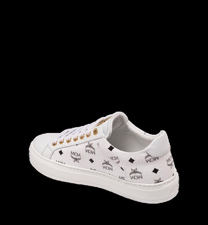 MCM 男士 Visetos 低筒運動鞋 White MEX9SMM04WT042 Alternate View 3