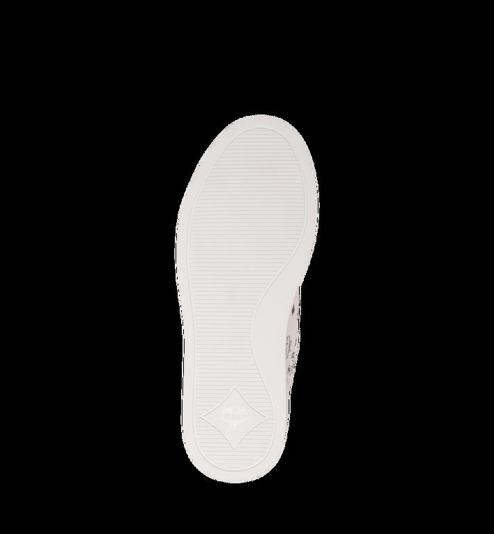 MCM Men's Classic Low Top Sneakers in Visetos White MEX9SMM04WT042 Alternate View 5