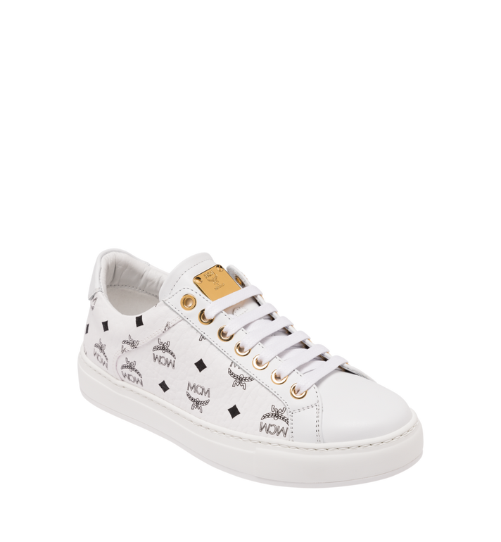 MCM Men's Classic Low Top Sneakers in Visetos Alternate View
