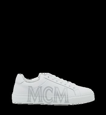 MCM 男士 Logo 皮革低筒運動鞋 White MEX9SMM16WT043 Alternate View 2