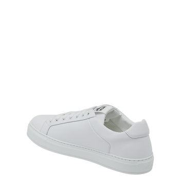 MCM 男士 Logo 皮革低筒運動鞋 White MEX9SMM16WT043 Alternate View 3