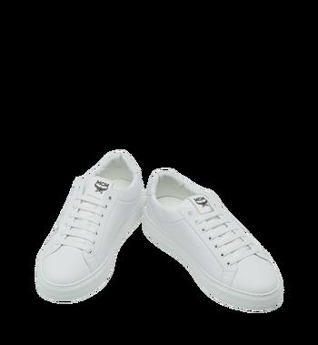 MCM 男士 Logo 皮革低筒運動鞋 White MEX9SMM16WT043 Alternate View 4