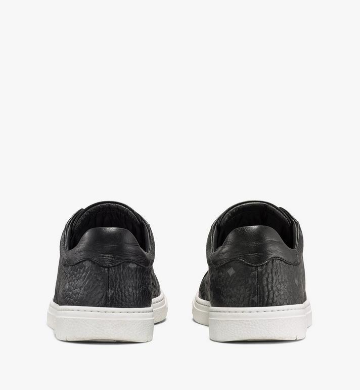 MCM Men's Terrain Lo Sneakers in Visetos Black MEXAAMM11BK044 Alternate View 3