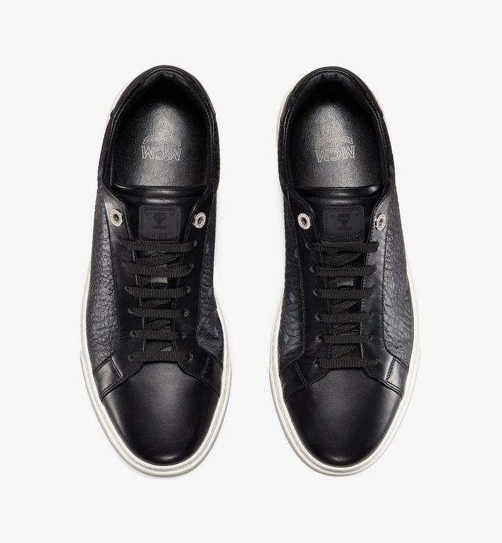 MCM Men's Terrain Lo Sneakers in Visetos Black MEXAAMM11BK044 Alternate View 5