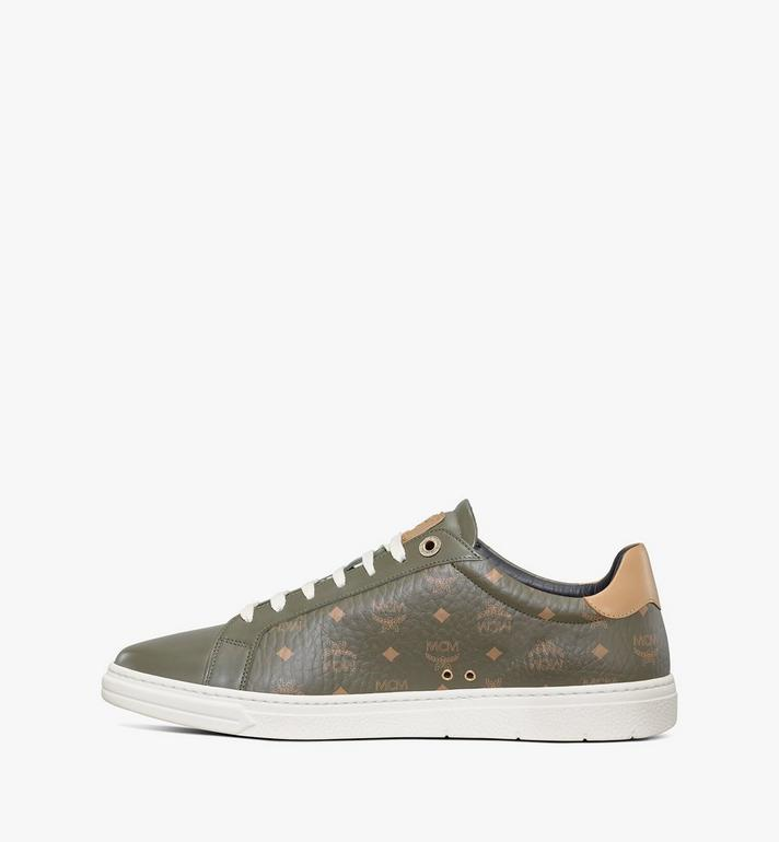 MCM Men's Terrain Lo Sneakers in Visetos Green MEXAAMM11JH040 Alternate View 2